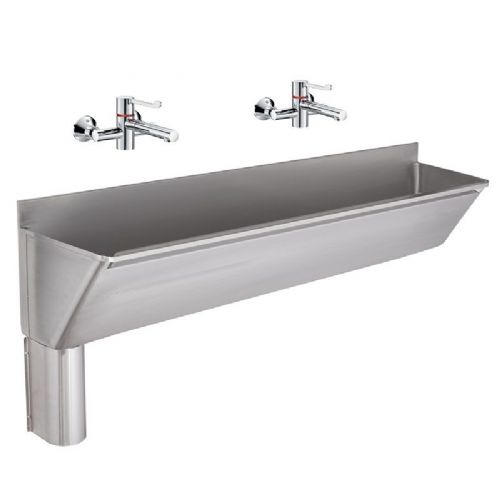 Franke G22030L 1600mm Stainless Steel Surgeons Scrub-Up Trough with Left-Hand Outlet